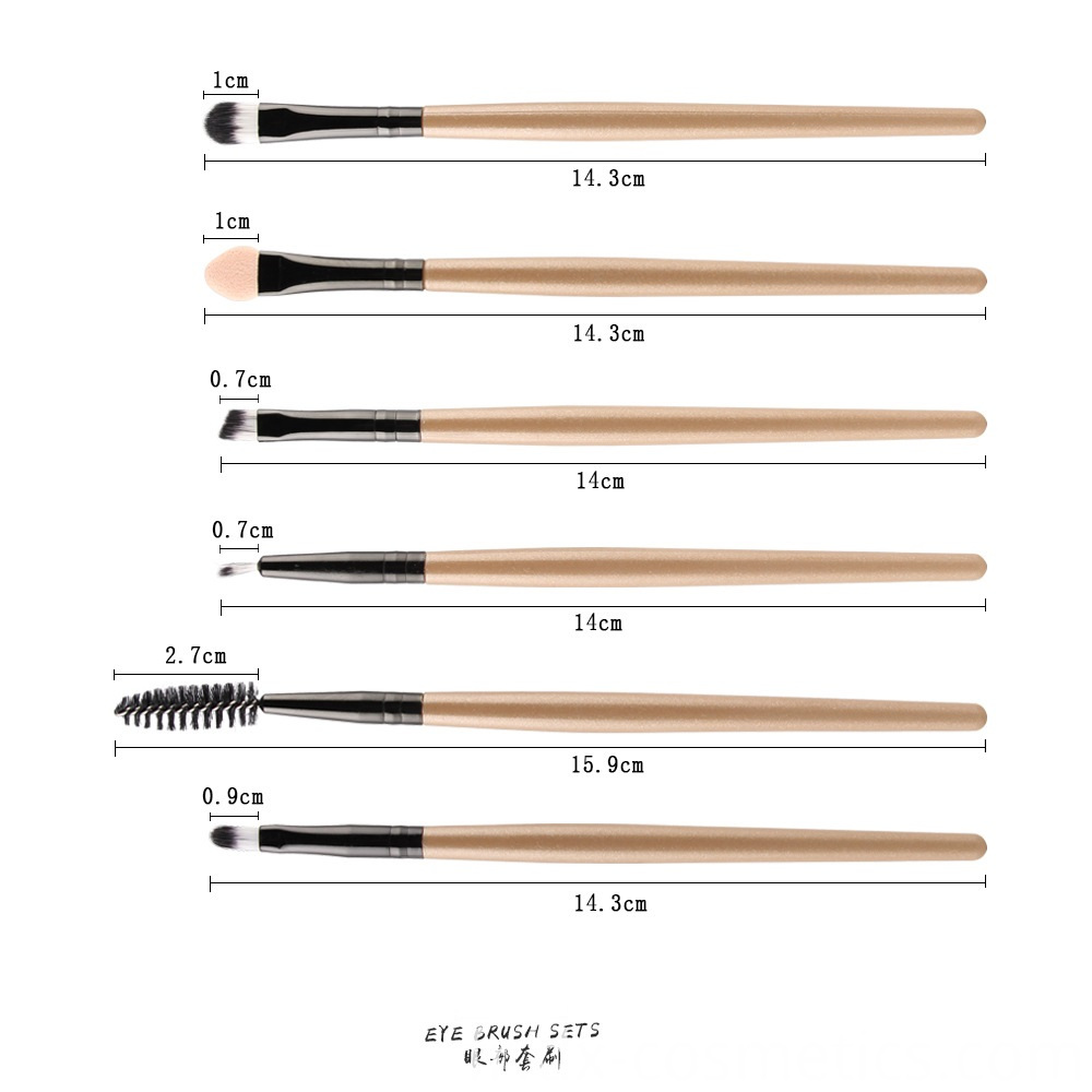 6 Piece Eye Makeup Brushes Set 4