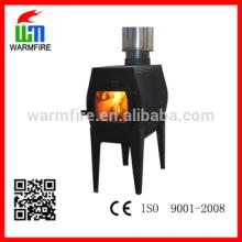 Modelo WM-K-100GLCB multi-combustível de ferro fundido fogão de madeira jaqueta