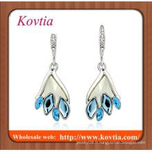 Lustres en cristal de mode sur taobao plaqué or argenté bleu pendentif pendentif