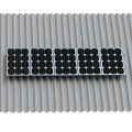 Cheap Solar Panel Mount System Asbestos Tile Roof L feet solution