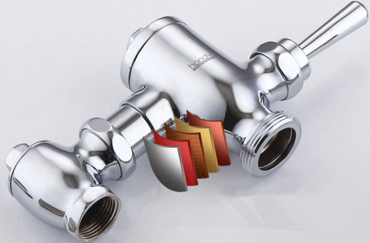 five layers plating flush valve
