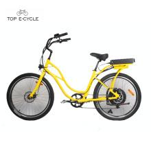 Hot sale cheap beach cruiser electric bicycle ebike e-bike 2017