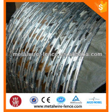 Hot dip galvanized razor barbed wire with clips