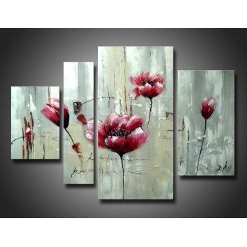 Оптовая Произведен Красочный Цветок Ручной Работы Картина Маслом Искусства