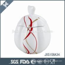 White Porcelain Sugar Pot, Candy Jar