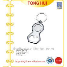 Blank Silber benutzerdefinierte Form Metall Flasche Opener Schlüsselanhänger