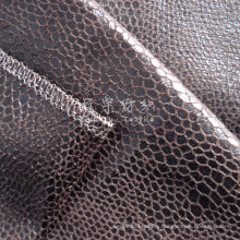 Bronzed Synthetic Leather Fabric with Backing for Upholstery