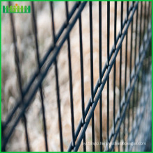 Hot selling useful life pvc coated security double wire mesh fence from Anping factory