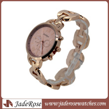 Reloj de cuarzo Rosegold Elegant Pink Dial Fashion para dama