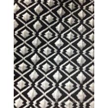 Tela jacquard con capa de aire en forma de diamante blanco negro