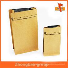 Wholesale flat bottom aluminium foil kraft paper bag