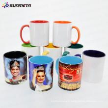 Sublimation 11oz Inner and Handle Color Ceramic Mug Fabriqué en Chine à bas prix en gros