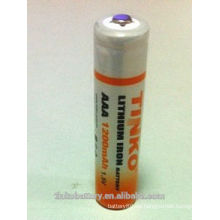 Batería de litio AAA 1, 5V 1200mAh Li-FeS2 y LF