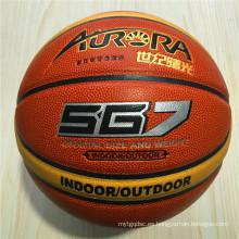 Baloncesto personalizado desgaste-resistencia calidad barato 12pieces4 # 5 # 6 # 7 # PU baloncesto