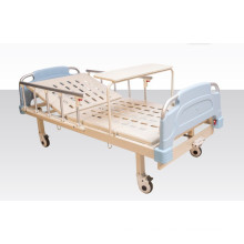 Single Crank Mechancial Hospital Ärztliches Bett mit Dinner Board (A-13)
