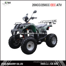 200cc EEC Quad with Semi-Automatic Engine Air Cooled, 250cc ATV with EEC Approved Water Cooled Hot Sale