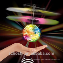 Flash FlyIing Ball Helicopter With Sensor Colorful Flash Disco ball Remote Control Toy As Gift