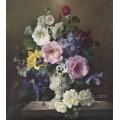Heißer Verkaufs-Entwurfs-Dekoration-Blumen-Ölgemälde auf Segeltuch für Hauptdekoration (ECH-108)