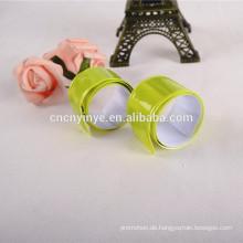 gelbe PVC-Fluoreszenz slap Armband Armband