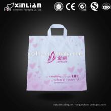 LDPE / HDPE bolsa de compras de plástico colorido con mango