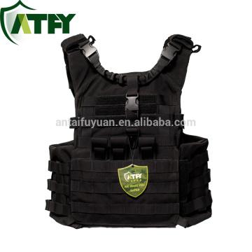 Portador táctico de alta calidad de la placa de molle con el chaleco de seguridad militar de las bolsas