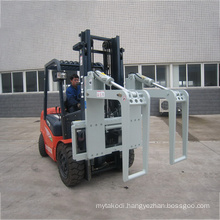 Hydraulic forklift attachment steel pipe clamp timber log holder for round holding
