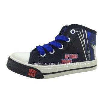 Fashion Cartoon High Ankle Children Shoes Sneaker (X167-S&B)