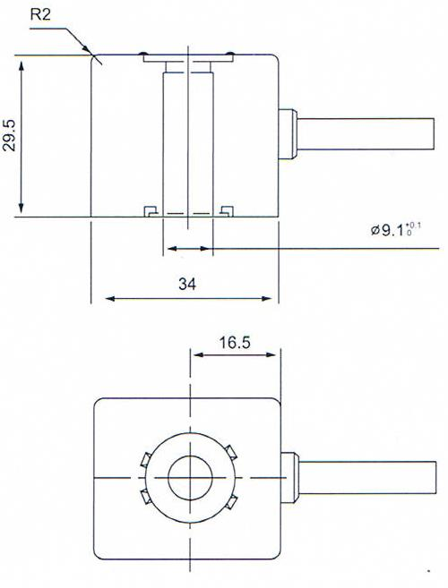 Dimension of BB09130033 Solenoid Coil: