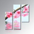 Handgemachtes realistisches Blumen-Ölgemälde auf Segeltuch