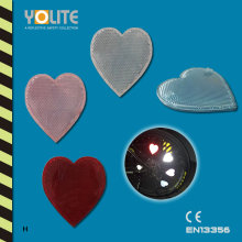 CE En13356 Reflective Heart Clip, Reflective Bicycle Wheel Clip for Personal Safey at Night