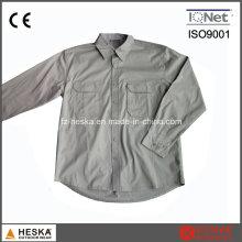 Гладкая хлопчатобумажная комфортной работы карман рубашки