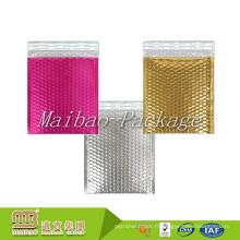 Les tailles faites sur commande ont imprimé la mousse légère colorée rayée robuste rose rembourrée Expédition Bubble Metallic Mailing Enveloppes
