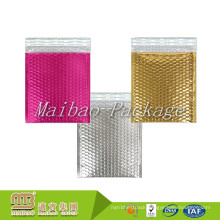 Custom Sizes Printed Colored Lightweight Foam Lined Sturdy Pink Padded Shipping Bubble Metallic Mailing Envelopes