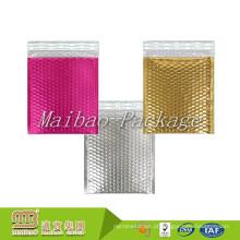 Tamanhos personalizados Impresso Colorido Espuma Leve Forrado Rosa Resistente Acolchoado Bolha de Enviamento Envelopes Metálicos