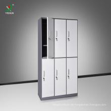 Knock Down 6 Tür-Stahltuch-Speicher-Schließfach