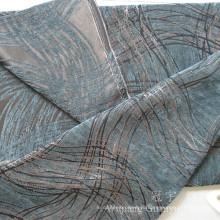 Полиэфира жаккарда Синеля ткань Покрашенная пряжей