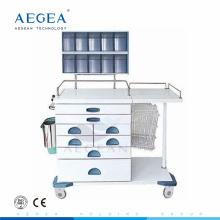 Cajones multifuncionales AG-AT017 mezclado médico enfermera estación de trabajo anestesia carro médico
