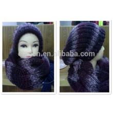 Invierno / Otoño fábrica de China Acrílico hecho punto sombrero y conjuntos de bufanda