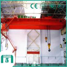 Capacidad de la grúa aérea de 150 a 160 toneladas