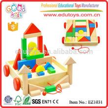 EZ1031 Factory price 30pcs colorful creative Large Children Blocks Toy in cart
