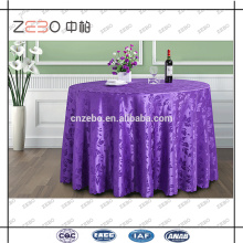 Tissu jacquard en polyester d'habitation utilisé en tissu de table de mariage chic personnalisé