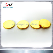 high stre hot sale high coercive cheap price neodymium gold magnet