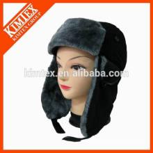 customized new winter faux fur earflap snow trapper hat