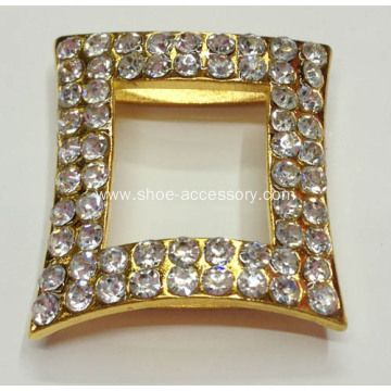 Rhinestone Alloy Lady Clothes Buckle, Shoe Ornaments