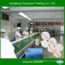 Very Safe Disinfectant Chlorine Dioxide Tablet for Kitchen Disinfection