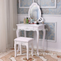 Custom Bedroom white Wooden Dressing Table