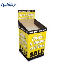 Poubelle démontable de carton promotionnel d'en-tête de prix promotionnel fait sur commande pour la vente, affichage attrayant de poubelles de détail