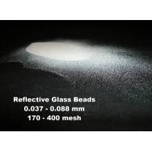 Grânulos de vidro reflexivo para tinta de marcação rodoviária