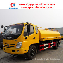 FOTON 4X2 water bowser 10000 liters water tanker truck for hot sale