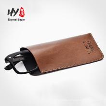 Высокое роскошный кожаный солнцезащитные очки мешок